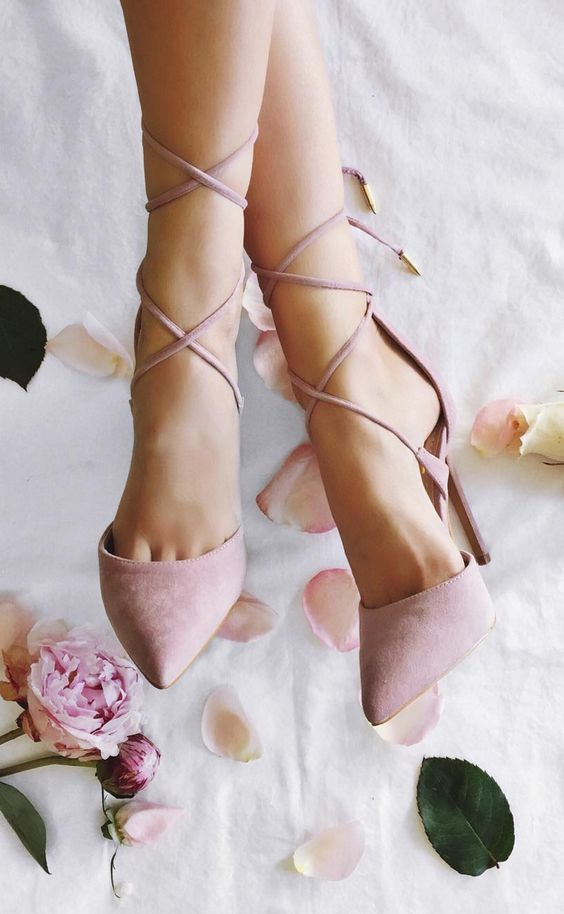 Lulus Dusty Rose Lace Heels