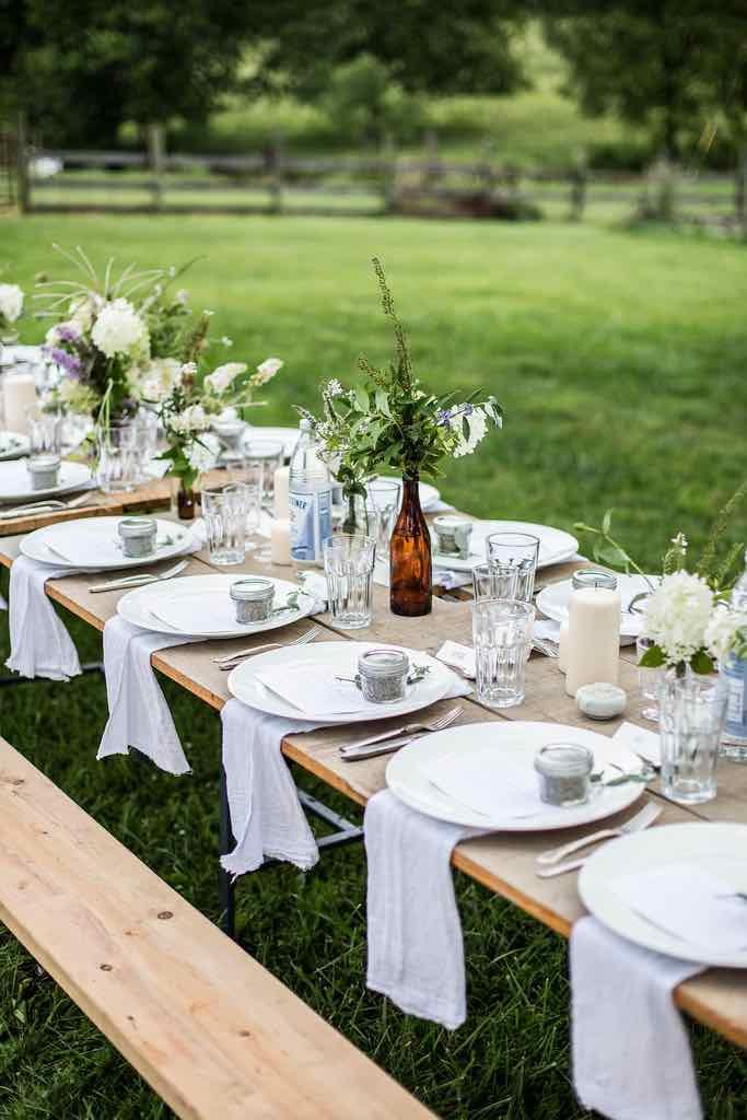 Rustic Outdoor Garden Table Setting