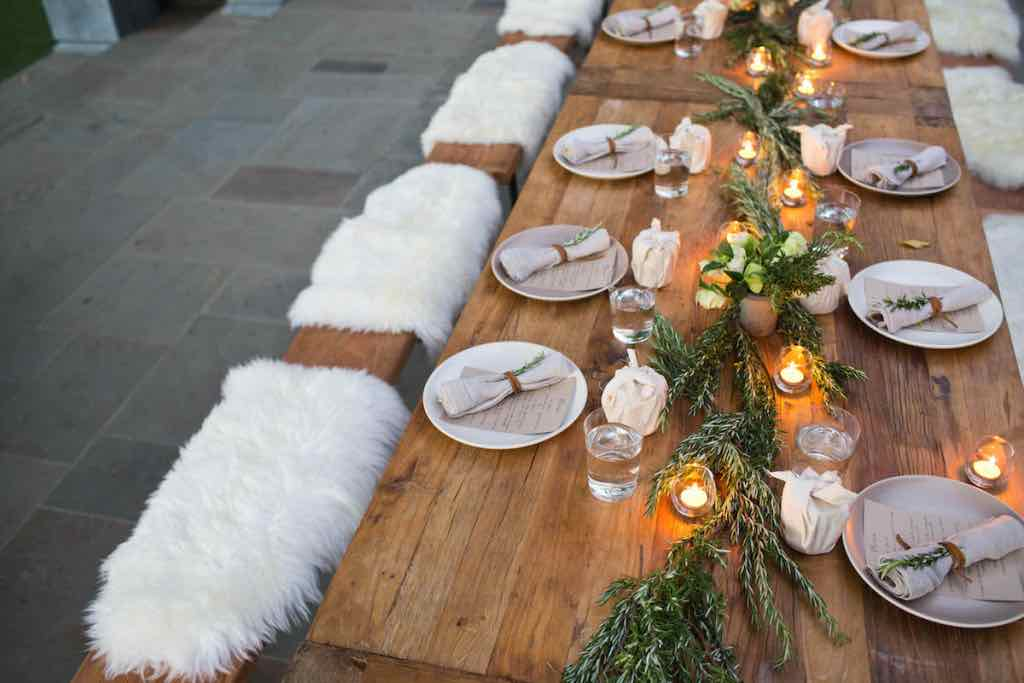 Rustic Rosemary Table Setting