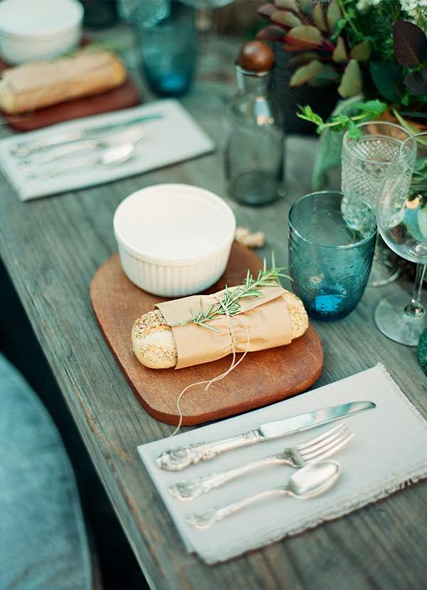 Rustic Bread and Table Setting
