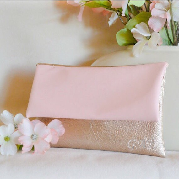 Rose Gold Etsy Clutch