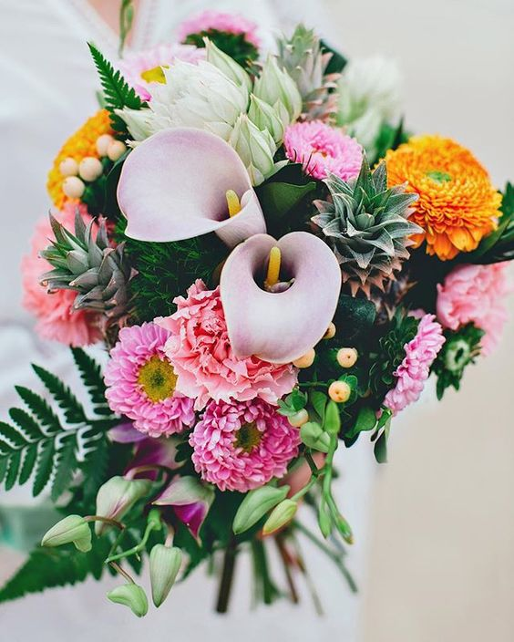 Tropical Lush Wedding Bouquet