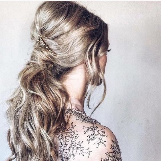 Half-up Half-down Hairstyle with Accessory