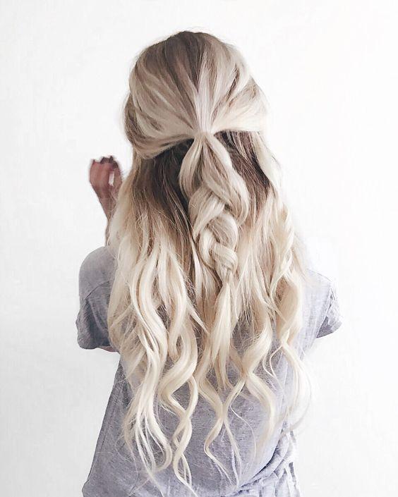 Half-up Hairstyle Soft Braid