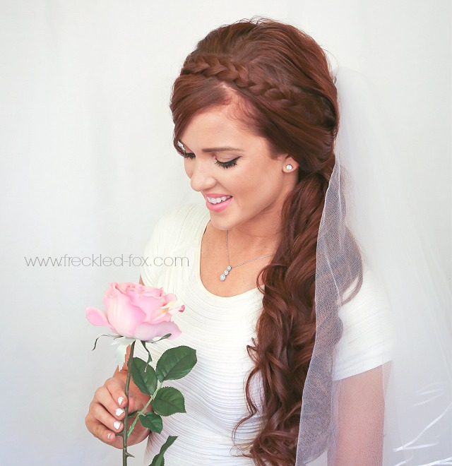 Half-up Half-down Hairstyle with Ponytail