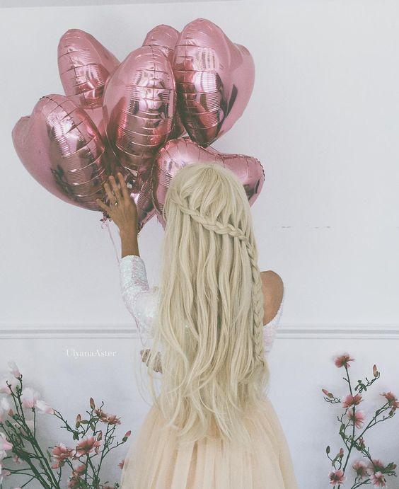 Half-up Half-down Wedding Hairstyle with Waterfall Braids