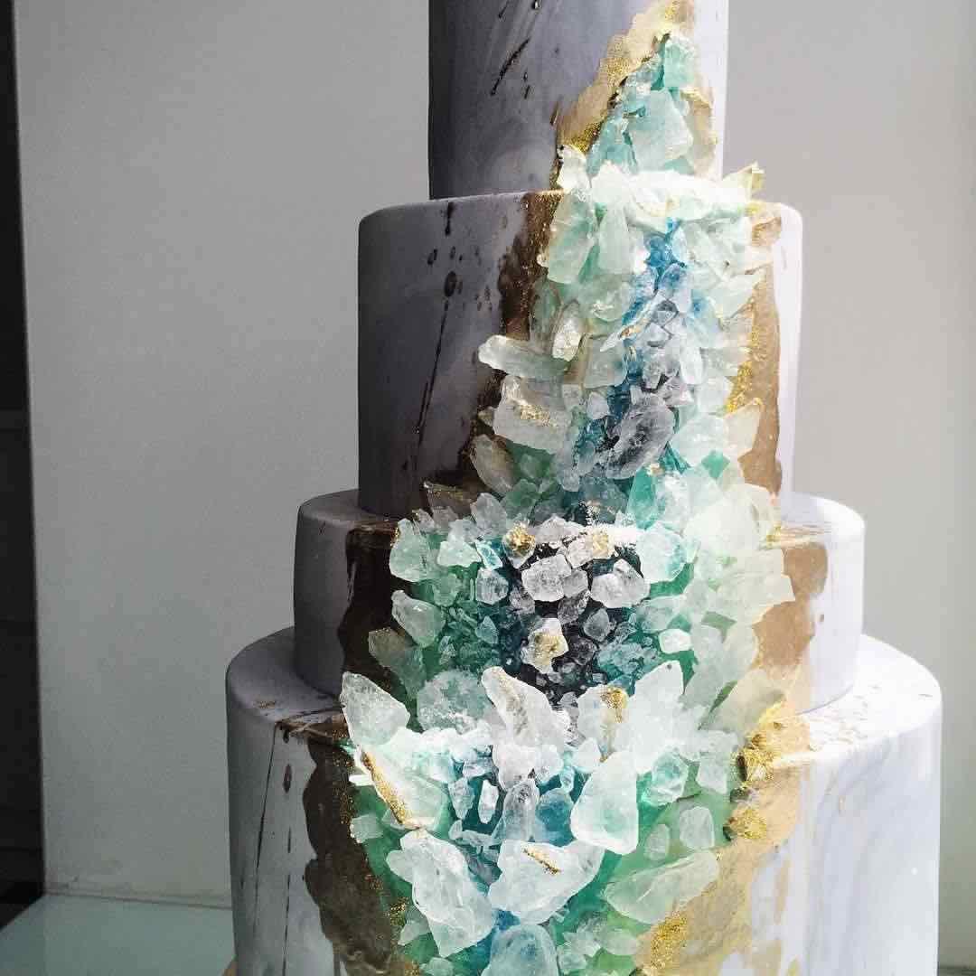 Crystal Geode Wedding Cake