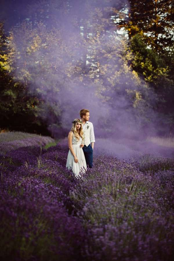 Lavender Field Smoke Bomb