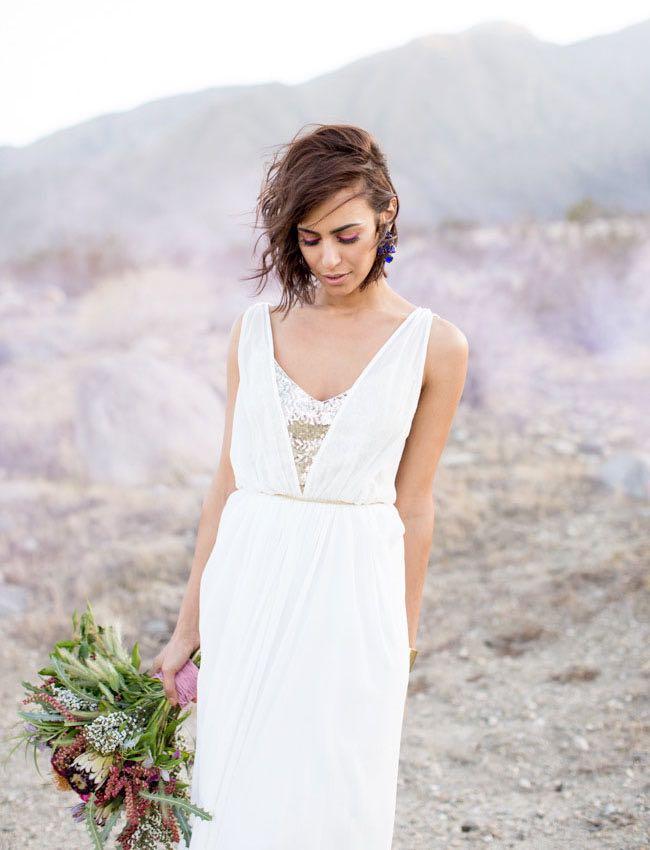 Bride with Pastel Smoke Bomb