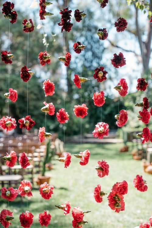 Carnation Backdrop Details