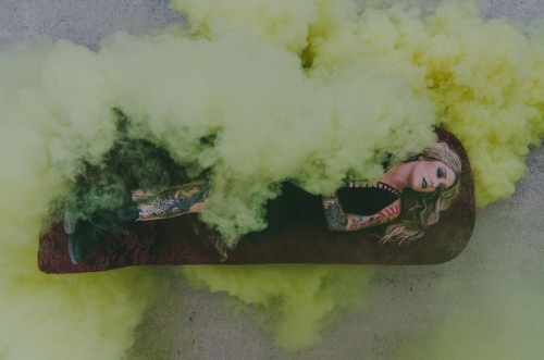 Yellow Smokebomb