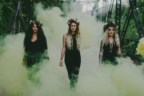 Yellow Smoke Bridal Party
