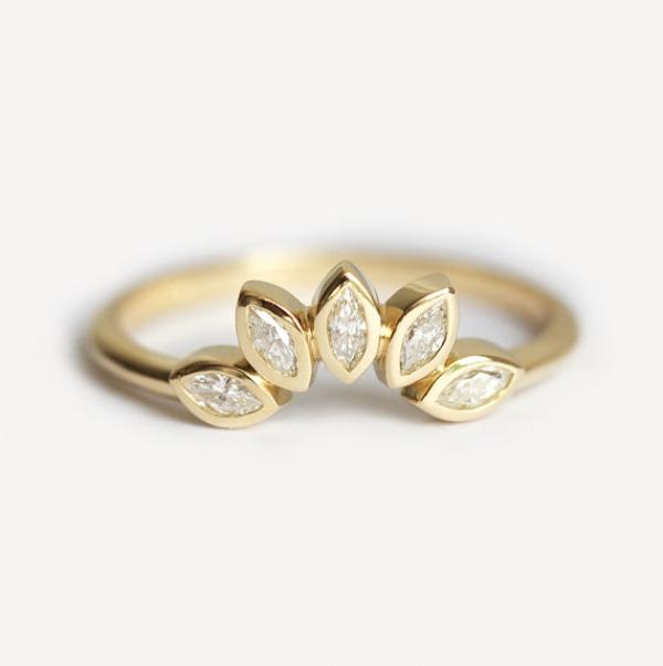Mini Diamond Crown Engagement Ring