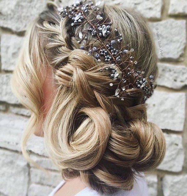 Crystal Headpiece and Updo