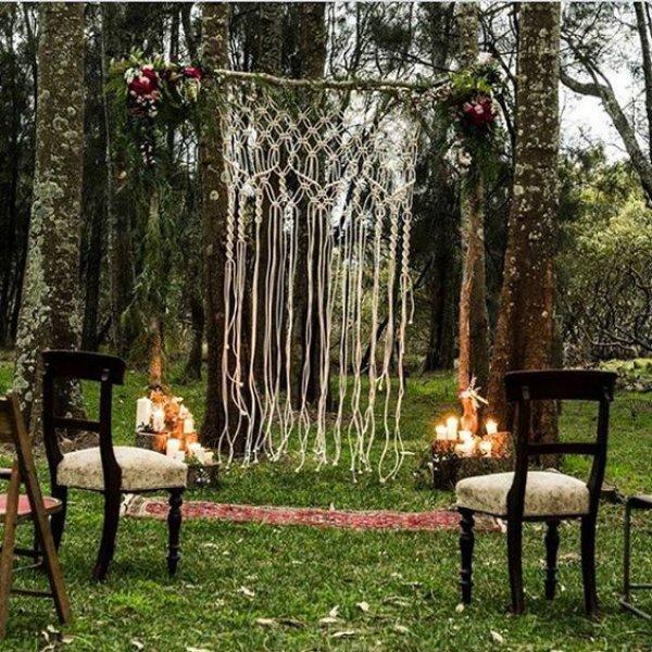 Single Macrame Wedding Backdrop