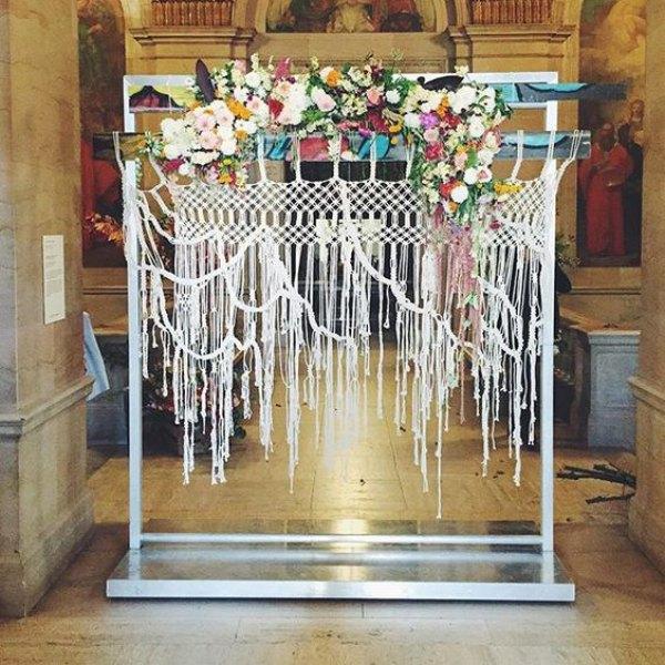 Modern Macrame Wedding Backdrop