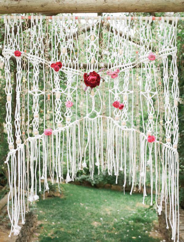 Macrame Wedding Backdrop Details