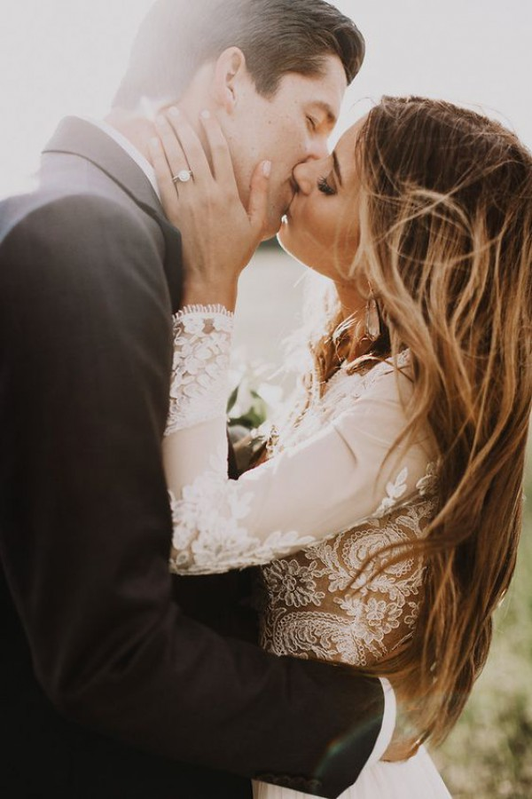Bride and Groom Kiss - Details