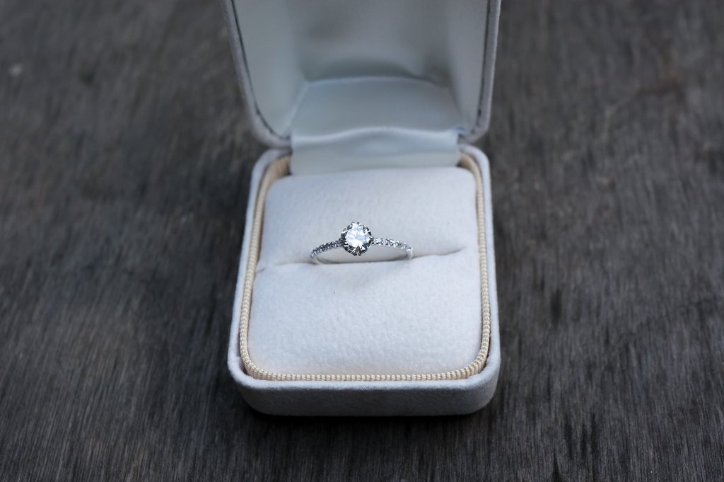 Diamond Compass Engagement Ring