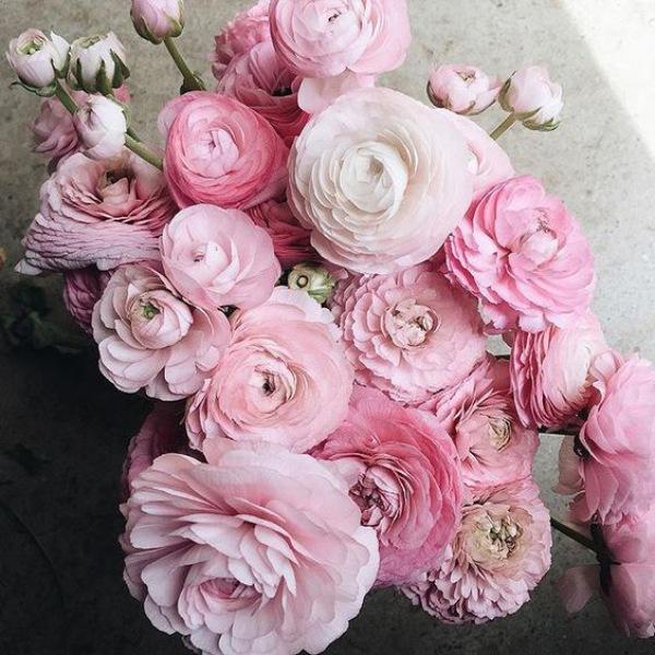 Pink Flowers Wedding Bouquet