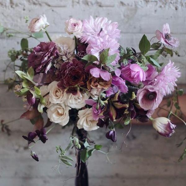 Purple Floral Wedding Bouquet
