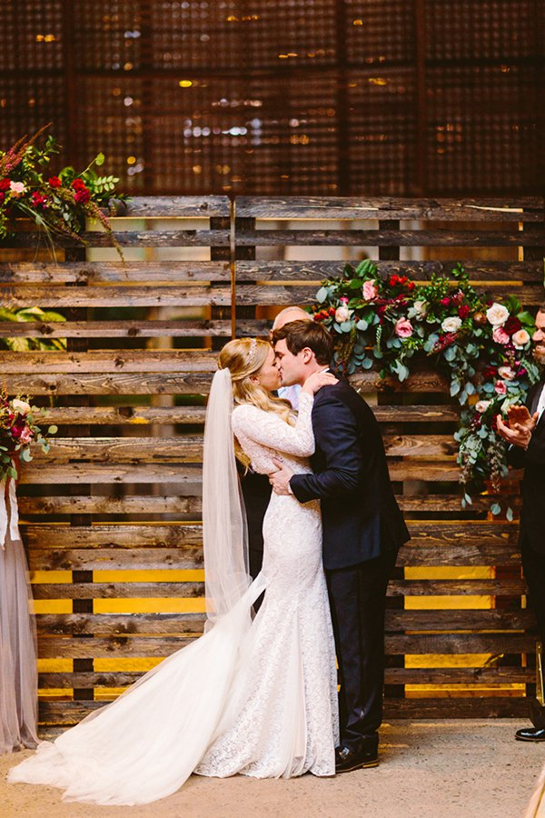 Wooden Pallet Backdrop with Lights
