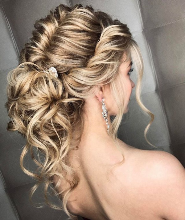 Messy Blonde Bridal Updo