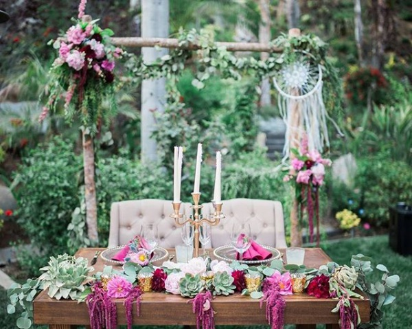 Bohemian Sweetheart Table
