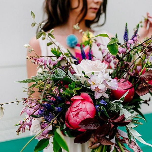 Wedding Bouquet Bright Florals