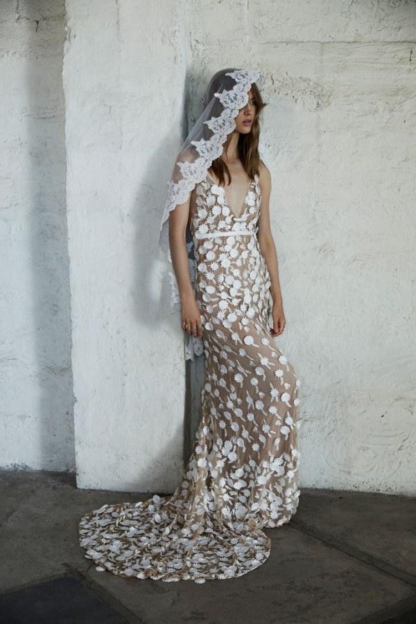 For Love and Lemons Marguerite Gown Full Length
