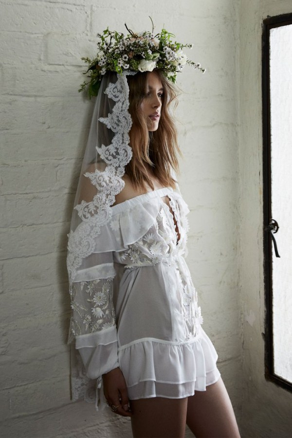 For Love and Lemons Carolina Gown Side