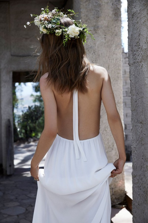 For Love and Lemons Isabella Gown Back
