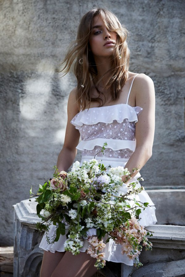 For Love and Lemons Cosmic Tiered Gown Details