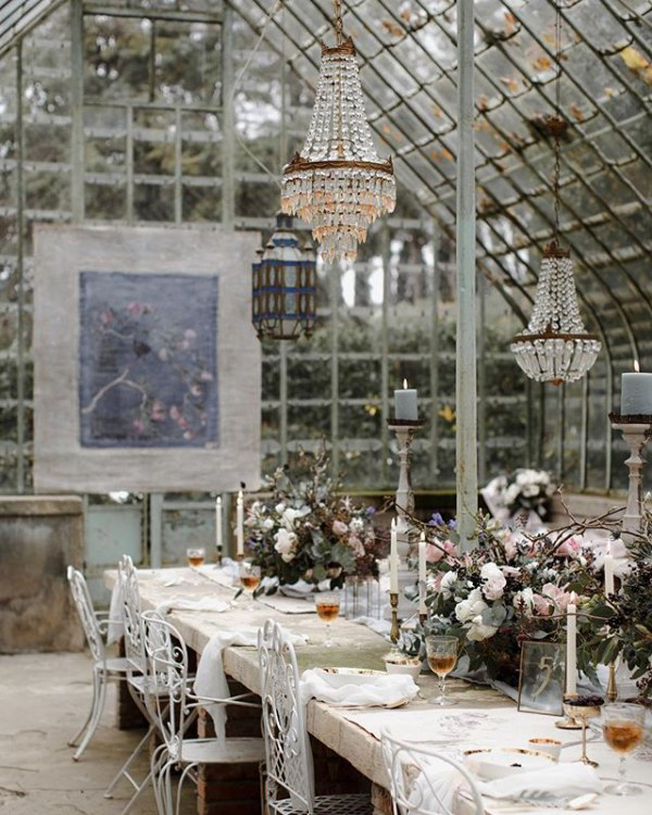 Glasshouse with Chandeliers