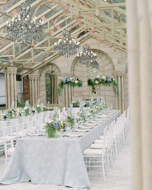 Stylish Chandeliers at Wedding Reception