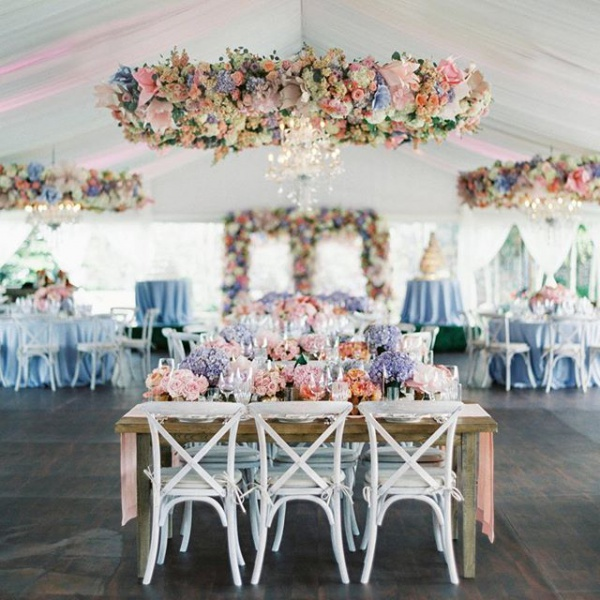 Chandeliers with Florals