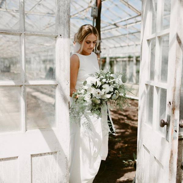 Bride and Greenhouse