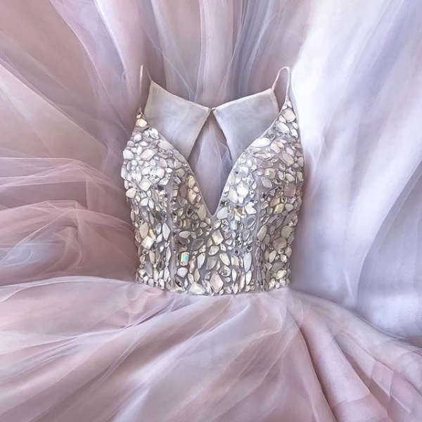 Hayley Paige Embellished Jem Gown
