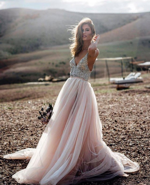 Galia Lahav Embellished Dress
