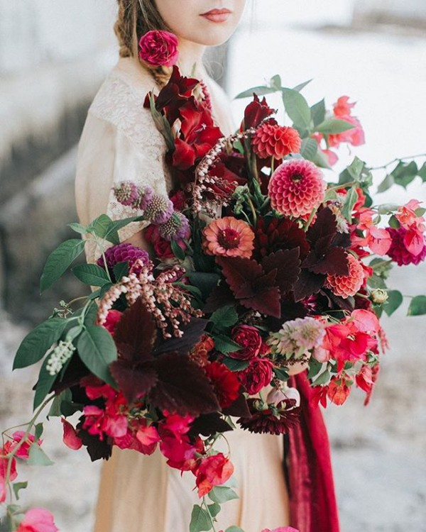 Stunning Autumn Bouquet in Red Tones