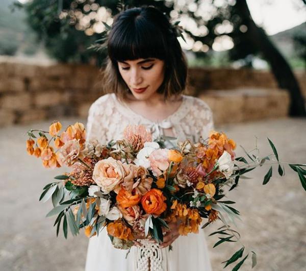 Stunning Autumn Bouquet with Orange Flowers