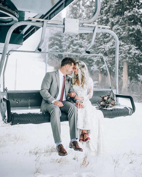 Winter Wedding Ski Lift