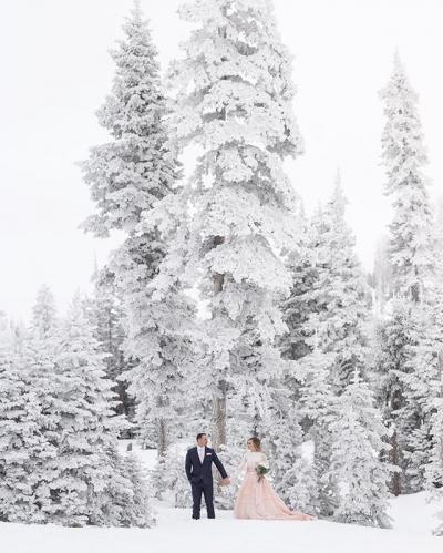 Winter Wonderland Bride and Groom