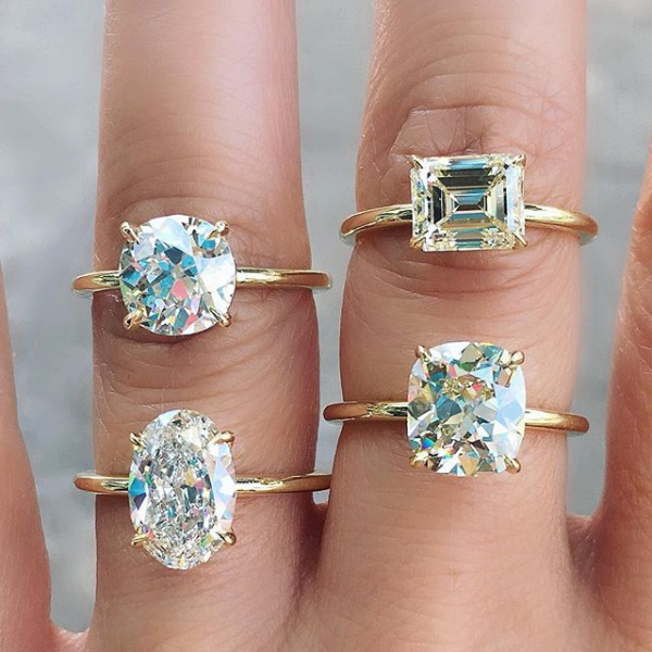 Engagement Rings with Solitaire Settings