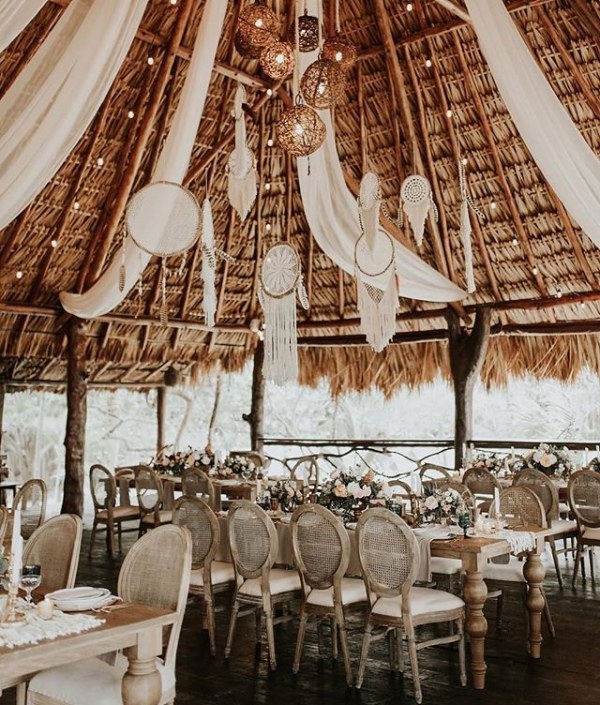Outdoor Dining Tablescape with Dreamcatchers