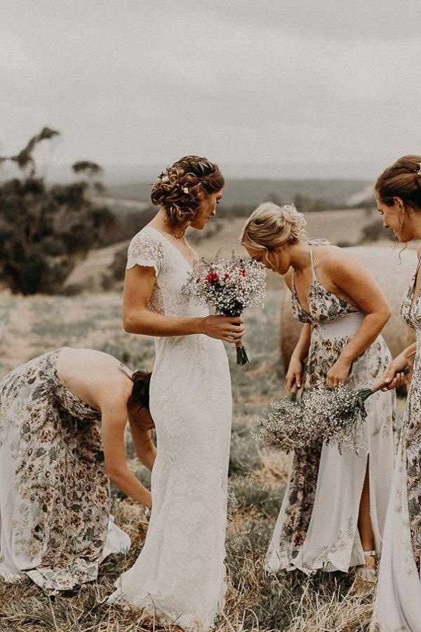 Bridesmaid Dresses in Floral Print