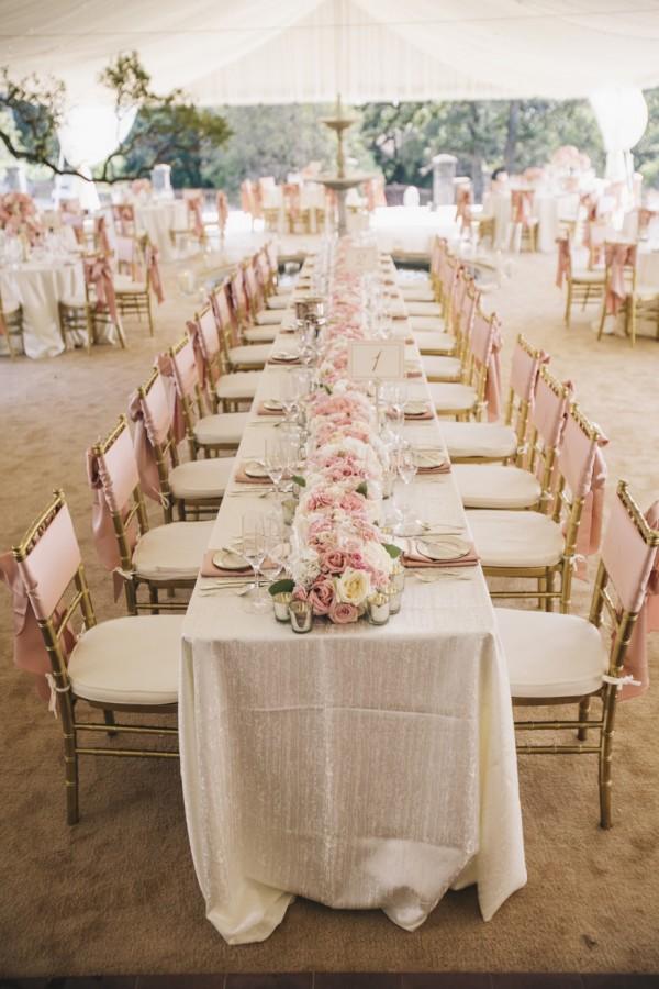 Blush Beach Wedding Reception