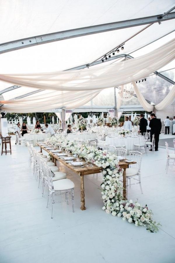 White Beach Wedding Reception