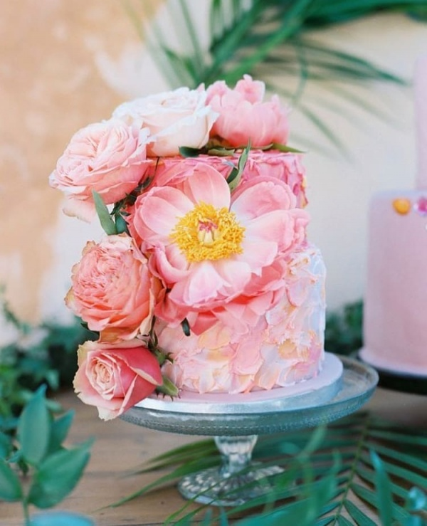 Bright Floral Wedding Cake