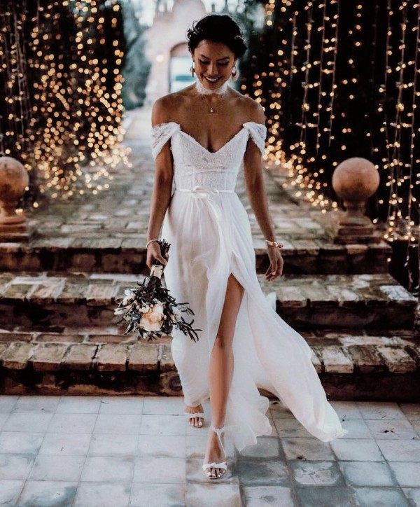 Wedding Dress Off the Shoulder Style